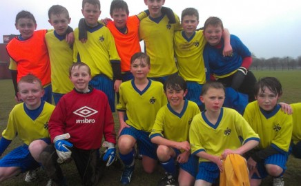 Year 8 Football Team After Winning Their Semi Final