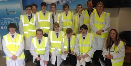 Ashfield Boys' Visit Bombardier