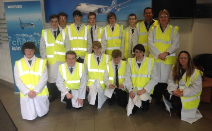 Ashfield Boys' Visit Bombardier