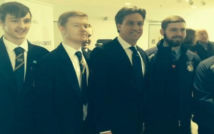 Ashfield students meet Ed Miliband MP