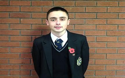 Ethan Warnock represents NI U16s at Victory Shield