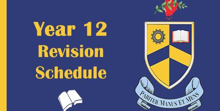 Year 12 – Revision Schedule
