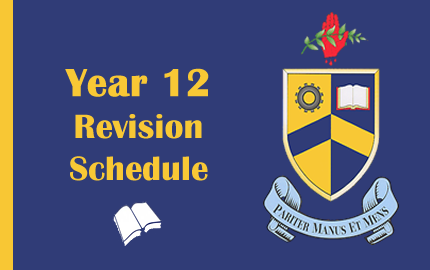 Year 12 – Revision Schedule