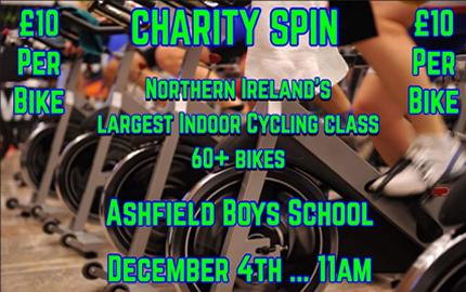 Charity Spin for Zakky Brennan at Ashfield Boys'