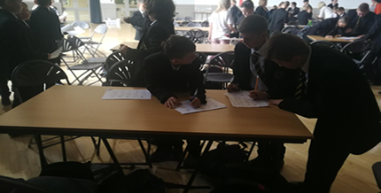 Our new Year 8 take part in Barclays LifeSkills session